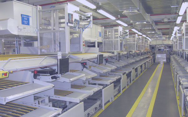 Material handling and product assembly automated line
