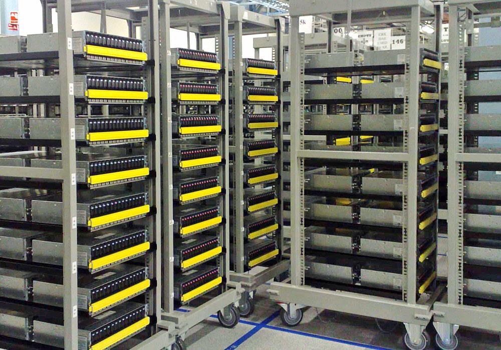 Server Rack Trolleys Fully Loaded