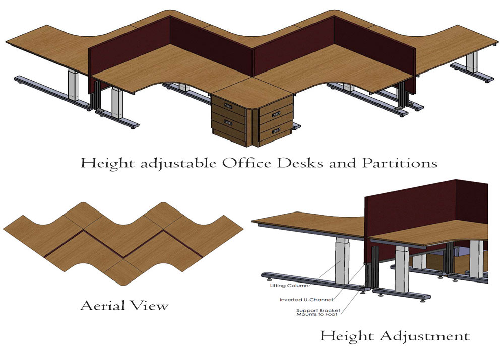 Sit-stand Office-Desks Design