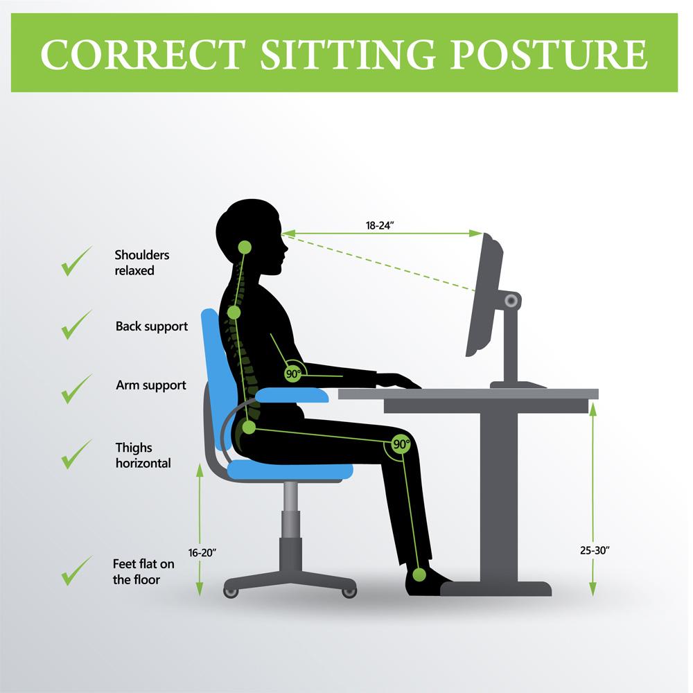 Ergonomics sitting advice